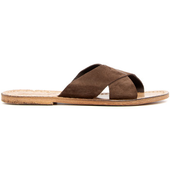 Zapatos Mujer Zuecos (Mules) Gianluca - L'artigiano Del Cuoio 560-FT MARRONE