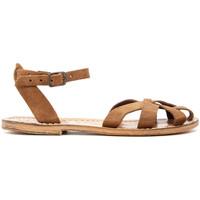 Zapatos Mujer Sandalias Gianluca - L'artigiano Del Cuoio 503-NOCCIOLA-FT BEIGE