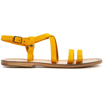Zapatos Mujer Sandalias Gianluca - L'artigiano Del Cuoio 531-OCRA GIALLO