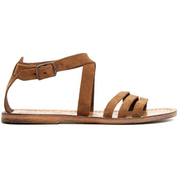 Zapatos Mujer Sandalias Gianluca - L'artigiano Del Cuoio 583-NOCCIOLA-FT MARRONE