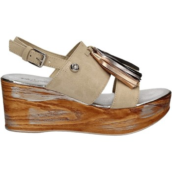 Zapatos Mujer Sandalias Byblos Blu 672213 Beige