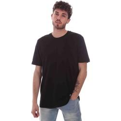 textil Hombre Camisetas manga corta Key Up 2M915 0001 Negro