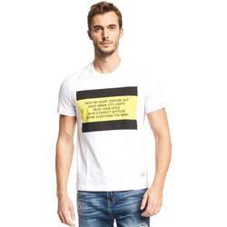 textil Hombre Camisetas manga corta Gaudi 111GU64071 Blanco