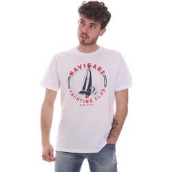 textil Hombre Camisetas manga corta Navigare NV31113 Blanco