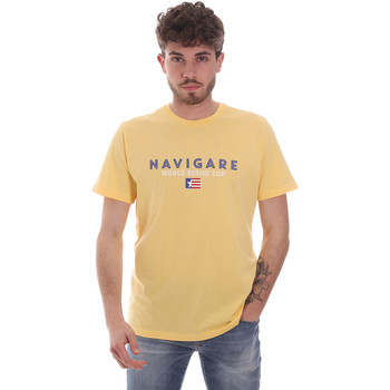 textil Hombre Camisetas manga corta Navigare NV31139 Amarillo