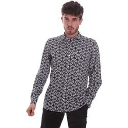 textil Hombre Camisas manga larga Antony Morato MMSL00614 FA430480 Negro