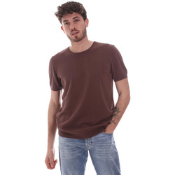 textil Hombre Camisetas manga corta Gaudi 111GU53004 Marrón