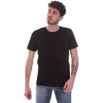 textil Hombre Camisetas manga corta Gaudi 111GU64048 Negro