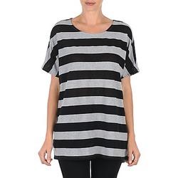 textil Mujer Camisetas manga corta Vero Moda CHELLA 2/4 LONG TOP KM Gris / Negro