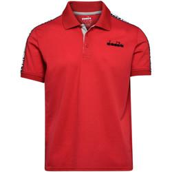 textil Hombre Polos manga corta Diadora 102175672 Rojo