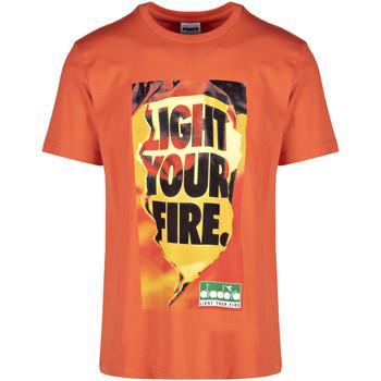 textil Hombre Camisetas manga corta Diadora 502175837 Naranja