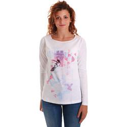 textil Mujer Camisetas manga larga Key Up 5G68S 0001 Blanco