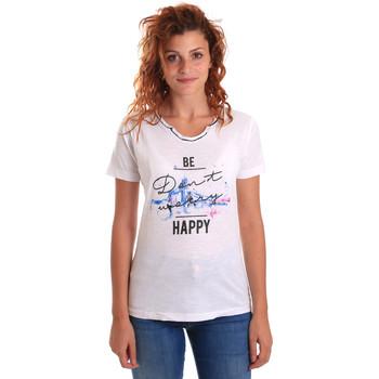 textil Mujer Camisetas manga corta Key Up 5G63S 0001 Blanco