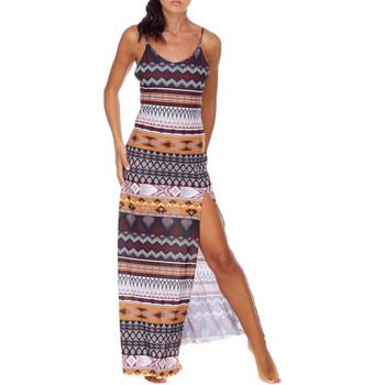 textil Mujer Vestidos largos Me Fui M20-0080X1 Marrón