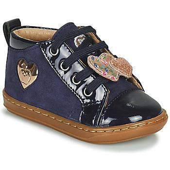 Zapatos Niña Zapatillas altas Shoo Pom BOUBA HEART Azul