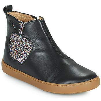 Zapatos Niña Botas de caña baja Shoo Pom PLAY APPLE Negro