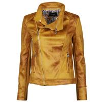 textil Mujer Chaquetas de cuero / Polipiel Desigual MARBLE Amarillo