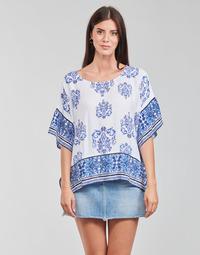 textil Mujer Tops / Blusas Desigual ANDES Blanco / Azul