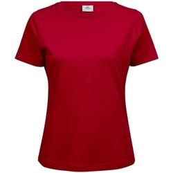 textil Mujer Camisetas manga corta Tee Jays T580 Rojo