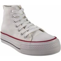 Zapatos Hombre Multideporte Bienve Lona caballero  2065b blanco Blanco