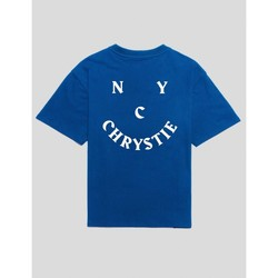 textil Hombre Camisetas manga corta Chrystie Nyc CAMISETA  SMILE LOGO TEE ROYAL BLUE Azul