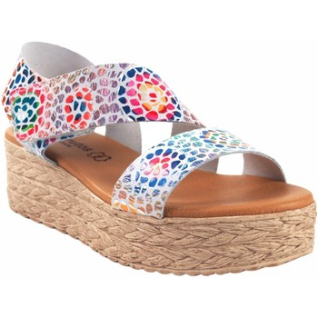 Zapatos Mujer Sandalias Eva Frutos Sandalia señora  724 bl.azu Rojo