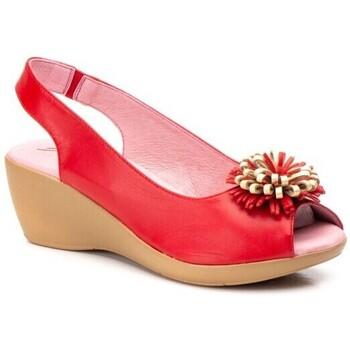 Zapatos Mujer Sandalias Cbp - Conbuenpie Sandalias Confort de piel  by CBP Rouge
