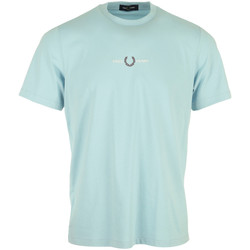 textil Hombre Camisetas manga corta Fred Perry Embroidered T-Shirt Azul