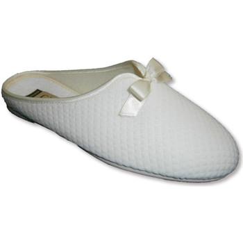 Zapatos Mujer Pantuflas Calzamur Chanclas cerradas por la puntera lazo de beige