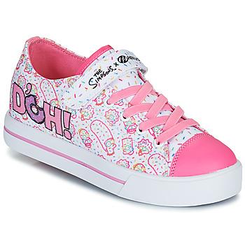 Zapatos Niños Zapatos con ruedas Heelys SNAZZY Blanco / Rosa / Lavanda
