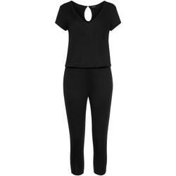 textil Mujer Monos / Petos Lascana Traje pantalón Jersey Pearl Black