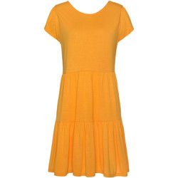 textil Mujer Vestidos Lascana Vestido de verano manga corta Ranunkel Caqui
