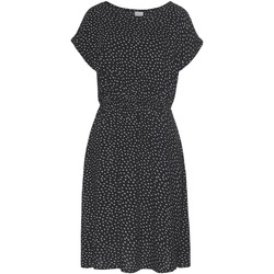 textil Mujer Vestidos cortos Lascana Vestido de verano manga corta Black And White Pearl Black
