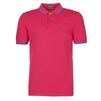 textil Hombre Polos manga corta Fred Perry TWIN TIPPED FRED PERRY SHIRT Rojo