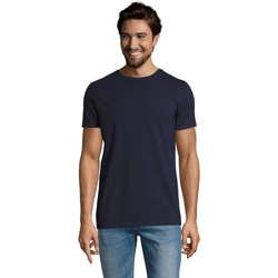 textil Hombre Camisetas manga corta Sols Camiserta de hombre de cuello redondo Azul