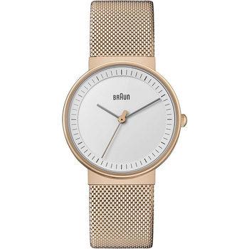 Relojes & Joyas Mujer Relojes analógicos Braun Brawn BN0031RGMHL, Quartz, 32mm, 3ATM Oro