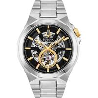 Relojes & Joyas Hombre Relojes analógicos Bulova 98A224, Automatic, 46mm, 10ATM Plata