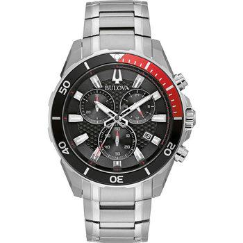 Relojes & Joyas Hombre Relojes analógicos Bulova 98B344, Quartz, 43mm, 10ATM Plata