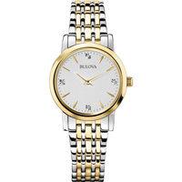 Relojes & Joyas Mujer Relojes analógicos Bulova 98P115, Quartz, 27mm, 3ATM Oro