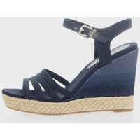 Zapatos Mujer Sandalias Tommy Hilfiger TOMMY GRADIENT HIGH WEDGE SANDAL Azul