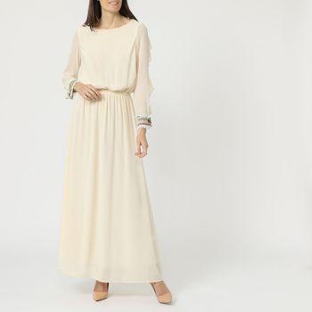 textil Mujer Vestidos largos Anany AN-070252 BEIGE