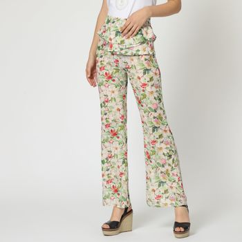 textil Mujer Pantalones fluidos Anany AN-230198 BEIGE