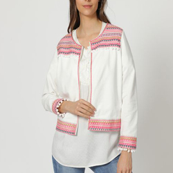 textil Mujer Chaquetas Anany AN-190527 BLANCO