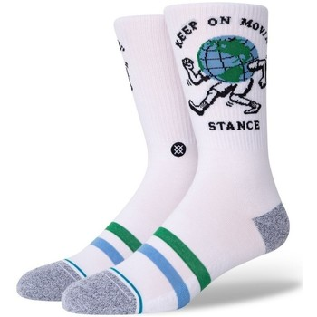 Accesorios Hombre Calcetines Stance Keep On Movin Blanco