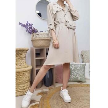 textil Mujer Vestidos cortos Fashion brands CD2293-BEIGE Beige