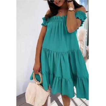 textil Mujer Vestidos cortos Fashion brands R5119-VERT-D-EAU Verde / De agua