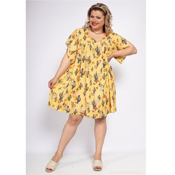 textil Mujer Vestidos cortos Fashion brands DIABOLE-COLOR-ONE-JAUNE Amarillo