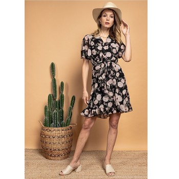 textil Mujer Vestidos cortos Fashion brands 2145A-NOIR Negro