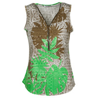 textil Mujer Tops / Blusas Fashion brands 183-07-LIME-GREEN Multicolor