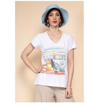 textil Mujer Tops / Blusas Fashion brands 8301-COMBI-SKY-BLUE Azul